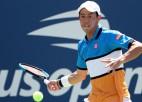 """Nišikori ar trešo mēģinājumu negatīvs koronavīrusa tests, taču """"US Open"""" nākas izlaist"""