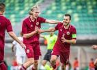 Latvijas U21 izlase ātri iesit divus vārtus Serbijai un izcīna neizšķirtu