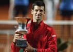 """Džokovičs piekto reizi uzvar Romā, izcīnot rekorda vērtu 36. """"Masters"""" titulu"""