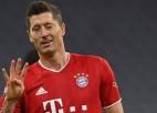 """Levandovskim pokers pret """"Hertha"""", ieskaitot uzvaras vārtus kompensācijas laikā"""