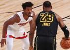 """Batlers un sīkstā """"Heat"""" vēl nepieļauj """"Lakers"""" uzvaru finālsērijā"""