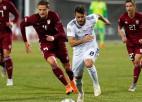 """Gruzija vai Ziemeļmaķedonija - kura no Nāciju līgas D komandām brauks uz """"Euro""""?"""