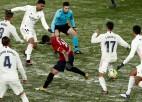 """Madrides """"Real"""" sniegā ielenc, taču neiekaro """"Osasuna"""" vārtus"""