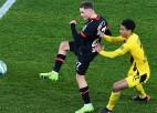 """""""Bayer"""" pieveic Dortmundi un pakāpjas uz dalītu otro vietu Bundeslīgā"""