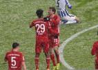 """Bayern"" turpina krāt punktus, saspringta mača galotne pret ""Hertha"""
