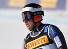 Puse nefinišē pirmajā braucienā slalomā, viņu vidū arī Opmanis