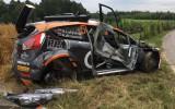 Foto: Lukjaņukam smaga avārija Polijas ERČ rallijā