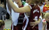 Foto: Latvija uzvar Poliju un iekļūst astoņniekā