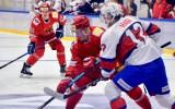 Pirms Baltkrievijas hokeja izlases spēles himnas vietā nospēlē tautasdziesmu