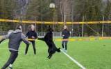 Video: Pludmales volejbolists uztrenē suni un spēlē kā ar pārinieci