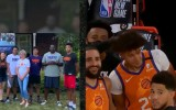 """Video: """"Suns"""" starta piecinieku burbulī piesaka tuvinieki"""