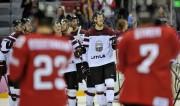 Foto: Latvija uzvar Šveici un iekļūst ceturtdaļfinālā
