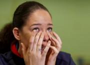 """Spēlētāja asarās: """"Ja neiekļūsim sešniekā, basketbols Lielbritānijā var izmirt"""""""