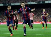 """Mesi debešķīgi vārti, """"Barcelona"""" izcīna arī Spānijas kausu"""