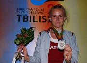 Tāllēcēja Bļusina sasniedz personisko rekordu un sudrabu Eiropas jaunatnes olimpiādē