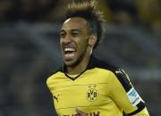 Obamejanga divi vārti nodrošina Dortmundei grūtu uzvaru