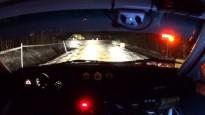 "Brāļi Velmes ar unikālo ""Audi Quattro"" <i>vago</i> nakts ātrumposmu Alūksnē"