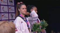 Inese Tarvida izcīna PČ bronzu; apbalvošanas ceremonija