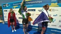 Pušpurei pirmoreiz Eiropas čempionāta zelts un kontinentālais rekords