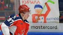 """KHL sezonas vārtu guvumos iekļūst arī """"armijnieku"""" snaiperis Kaprizovs"""