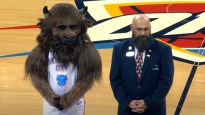 NBA sezonas labākie momenti ar komandu talismaniem