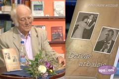 """Video: Izdots Arnolda Auziņa humora pilnais stāstu krājums """"Dzīvās atbalsis"""""""