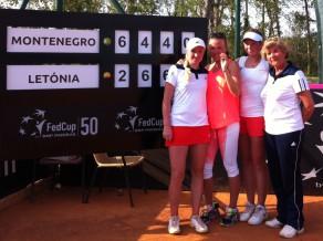 Latvijas tenisistes atgriežas 1. grupā