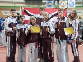"""Latvijas sportistiem zelts un sudrabs Pasaules kausā """"Taekwon-do ITF"""""""