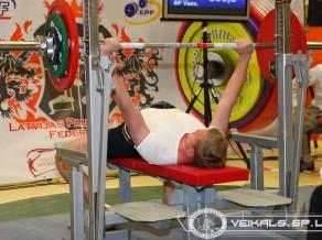 Jelgavā notiks Latvijas čempionāts svaru stieņa spiešanā guļus