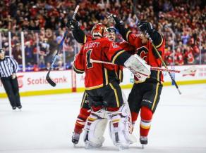 """""""Flames"""" uzvaru sērijas rekords, Maršānam """"hat-trick"""" vienā trešdaļā"""