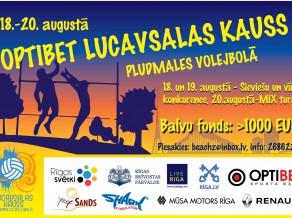 Optibet Lucavsalas kauss pludmales volejbolā no 18. līdz 20.augustam
