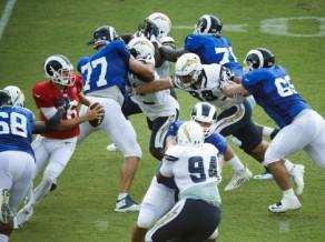 """""""Rams"""" un """"Chargers"""" kopīgā treniņā izceļas trīs kautiņi"""