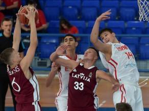 U16 puiši Eiropas čempionātu ievada ar -21 pret Spāniju