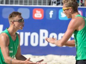 Samoilovs/Šmits uzvar U20 EČ grupā, tālāk tiek arī Grosberga/Namiķe