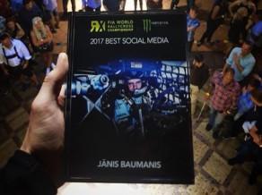 Jānis Baumanis Pasaules RX čempionātā iegūst balvu ''Labākās aktivitātes sociālajos medijos''