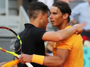 Tīms Madrides ceturtdaļfinālā pārtrauc Nadala iespaidīgās māla sērijas