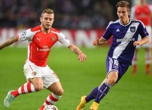 """D grupa: """"Arsenal"""" tomēr izglābjas Beļģijā, """"Borussia"""" grauj Turcijā"""