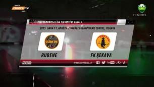Video: ''Rubene'' aizraujošā finālspēlē uzvar ''Ķekavu''