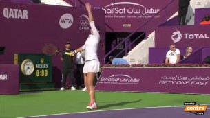 Video: Ostapenko ar iespaidīgu uzbrukuma tenisu nopelna pusfinālu