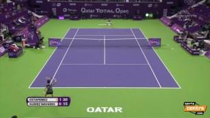 Video: Ostapenko piedzīvo zaudējumu Dohas turnīra finālā