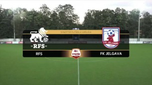 """Video: """"RFS"""" mājās pieveic FK """"Jelgava"""""""