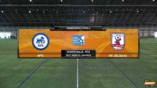 """Video: RFS futbolistiem panākums pār """"Jelgavu"""""""