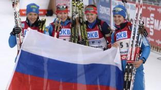 Krievija pēc divu gadu pārtraukuma uzvar sieviešu stafetē
