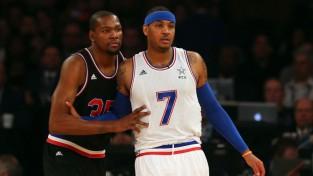 """Karmelo: """"Sarunās ar Durentu aicinu viņu pievienoties """"Knicks"""""""""""