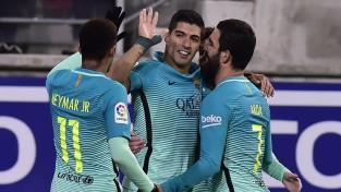 """""""Barcelona"""" pirmo apli noslēdz ar uzvaru Eibarā un trešo vietu tabulā"""