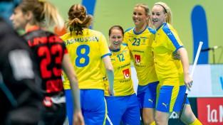 Florbola ceturtdaļfinālos bez pārsteigumiem, Latvija spēlēs pret Poliju