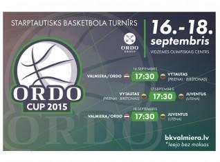 """Trešdien Valmierā sākas starptautisks turnīrs basketbolā """"ORDO Cup 2015"""""""