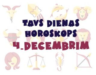 Tavs dienas horoskops  4. decembrim