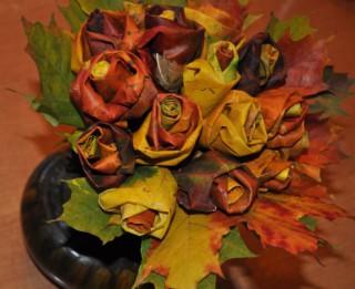 Foto: Kļavu lapu rozes. Izgatavošanas pamācība