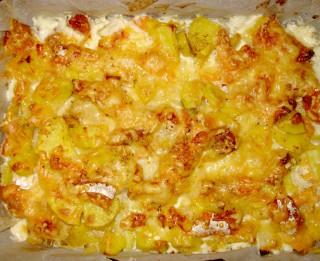 Kartupeļu sacepums ar lasi